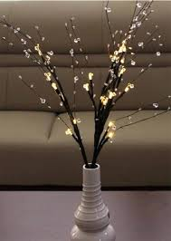 decorative branches with lights decorative battery operated 24 light led bead branch home