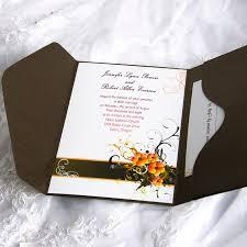 cherry blossom wedding invitations online cherry blossom pocket wedding invitation ewpi008 as low as