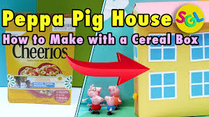 peppa pig house kids crafts diy how to make a peppa pig house