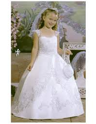 1st holy communion dresses discount gown length satin holy communion dresses