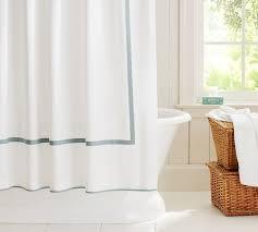 Shower Curtain Blue Brown Morgan Shower Curtain Pottery Barn