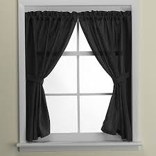 Window Curtains Westerly Bath Window Curtain Pair In Black Bed Bath Beyond