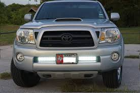 tacoma grill light bar dual 10 led light bar lower grill install tacoma world