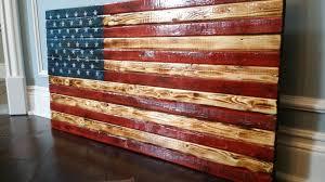 Vintage Flag Art Natural Scorched U S Flag