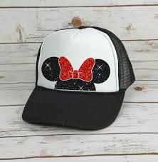 mickey mouse ears spirit halloween disney trucker hat minnie mouse bow cinderella castle