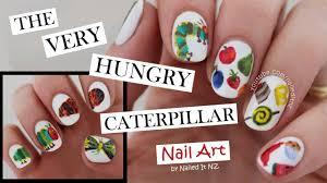 the very hungry caterpillar nail art youtube
