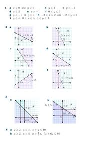 inequalities graphing worksheets a linear worksheet doc