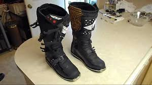 dirt bike racing boots fly racing maverik motocross riding boots size 11 sold youtube