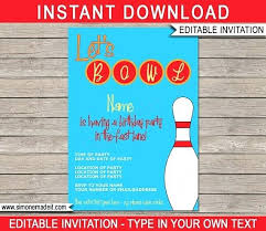 bowling invitation template together with ten pin bowling party
