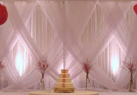 Cheap Draping Material How To Drape Fabric On Walls For A Wedding Fantastic Decoration