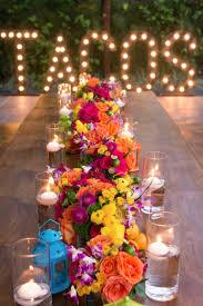 Bright Color Setting Bohemiadelmar Floral Centerpieces Fiestas And Centerpieces