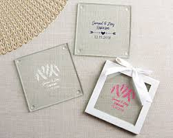 wedding coaster favors personalized glass coasters winter set of 12 my wedding favors