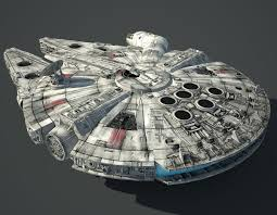 millennium star diamond game ready millennium falcon 3d model dimmerlight