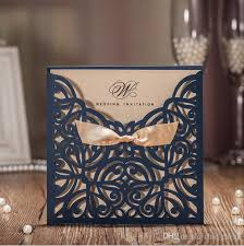 wedding supplies online new arrival luxurious hollow bowknot beautiful wedding invitations