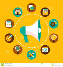 marketing design vector marketing concept in flat style stock vector