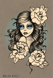 awesome flowers and gypsy head tattoo tats pinterest tattoo