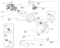 Bathroom Shower Parts Moen T3124cp Parts List And Diagram Ereplacementparts