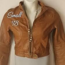 Leather Barn Coat Women U0027s Jou Jou Leather Jacket On Poshmark
