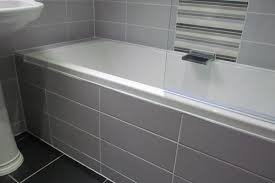 tiled baths subway tile 100x300 bath front pinterest bath panel subway