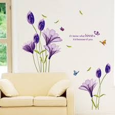 online get cheap lily wall stickers aliexpress com alibaba group