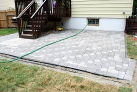 Plastic Pavers For Patio by In The Little Yellow House Patio Building Filling The Gaps