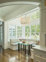 Kitchen Nook Bay Window Ideas Treatments Windows Treatment Eiforces - Dining room with bay window