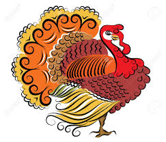 color turkey thanksgiving day royalty free cliparts vectors and
