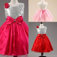 2018 New Children Bling Christmas Dress Girl Party Frock Little
