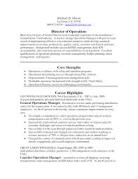 Sample Operations Manager Resume by Director Of Operations Resume Sample Recentresumescom Sales And