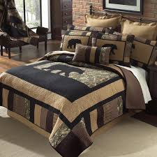 camo bear quilted bedding collection