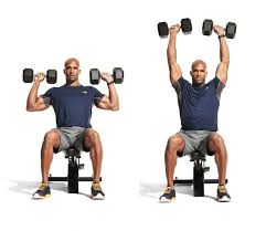 Seated Bench Press Seated Dumbbell Overhead Press Men U0027s Fitness