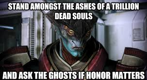 Funny Mass Effect Memes - stand among the ashes javik from mass effect 3 x post from