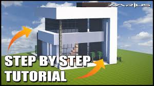 Modern House Minecraft Minecraft House Tutorial Great Modern House Easy To Follow