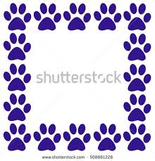 paw print border stock images royalty free images u0026 vectors