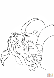 phillip kisses aurora coloring free printable coloring pages