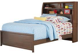 Bookcase Bed Frame Santa Cruz Cherry 3 Pc Full Bookcase Bed Full Beds Dark Wood