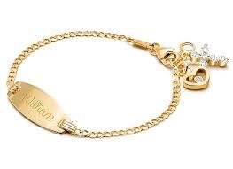 bracelet for classic baby children s engraved id bracelet for boys 14k gold