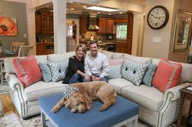 llds home store design studio louisville kentucky lisa lynn knight owner of lisa lynn designs llc pictured here with her husband and pup in their home
