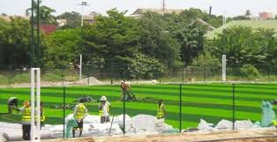 astroturf asamoah gyan u0027s astroturf for alma mater commissioned see photos