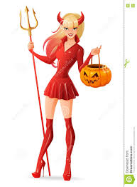 cute jack o lantern clipart woman in halloween devil costume with jack o lantern pumpkin
