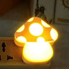 night light sound lovely sound light control sensor led mushroom night light baby