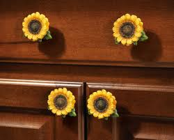 sunflower country cabinet drawer pulls set of 6 amazon com