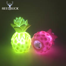 Wholesalers For Home Decor by 2017 Wholesale Led Colorful Pineapple Night Light Yellow Pink