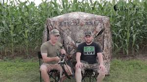 Pop Up Ground Blind Do It Yourself Elevated Ground Blind Platform Youtube