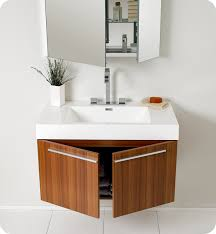 Modern Bathroom Cabinets Impressive Modern Bathroom Vanities And Cabinets Fresca Vista Teak