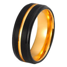 black rings women images Mens yellow gold wedding band tungsten wedding rings