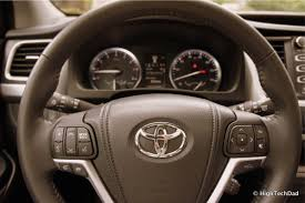 toyota steering wheel taking the family high road in the 2014 toyota highlander