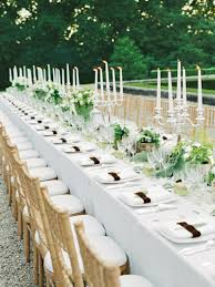 table decoration fancy white wedding table decoration using small