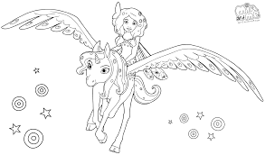 mia and me coloring pages coloring page
