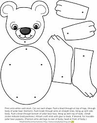 holiday polar bear coloring coloring